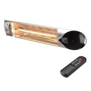 Lampada riscaldante ad infrarossi ad ONDE MEDIE a bassa luminosità scalda fino a 16 mq BLAZE 2000 ARGENTO wifi
